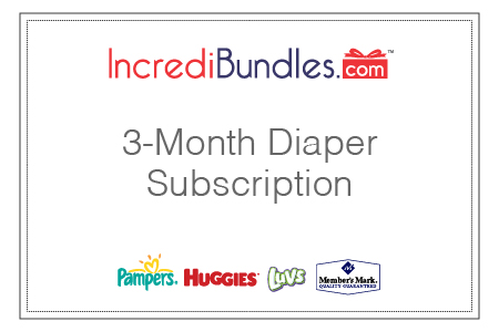 3-month diaper subscription gift