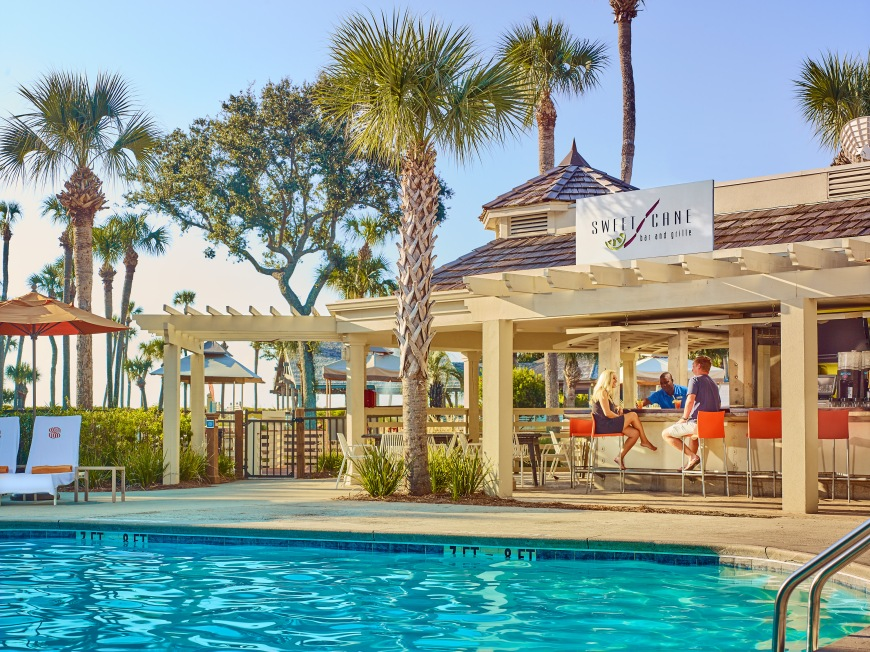 Sweet Cane Bar and Brille (by pool, closer view) - Sonesta Resort Hilton...